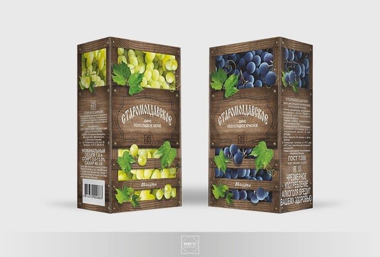 Дизайн упаковки для вина Минск