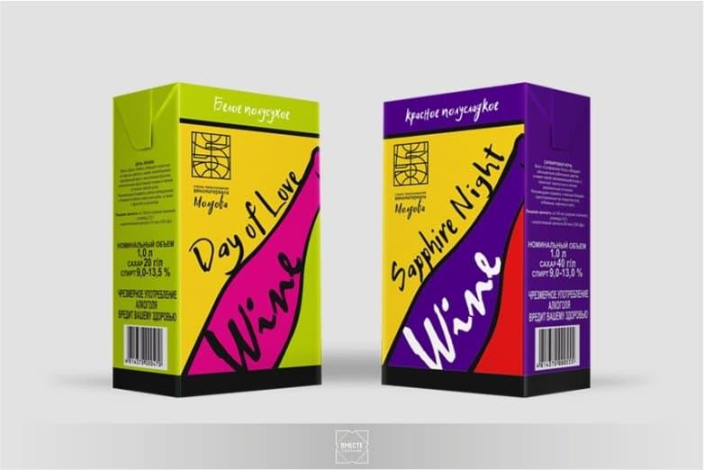 Разработка дизайна упаковки для вина