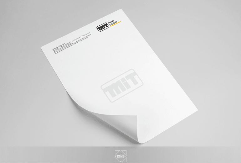 Разработка дизайна фирменного бланка для корреспонденции