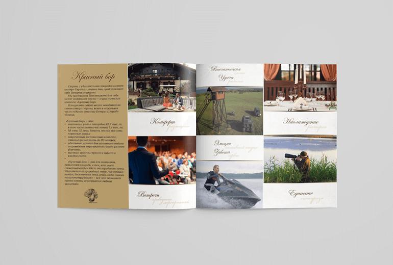Дизайн брошюры Красный Бор