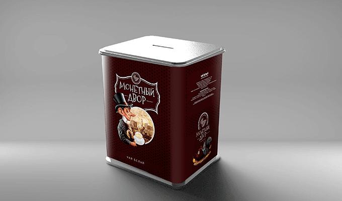 """Упаковка для чая """"Монетный двор"""""""