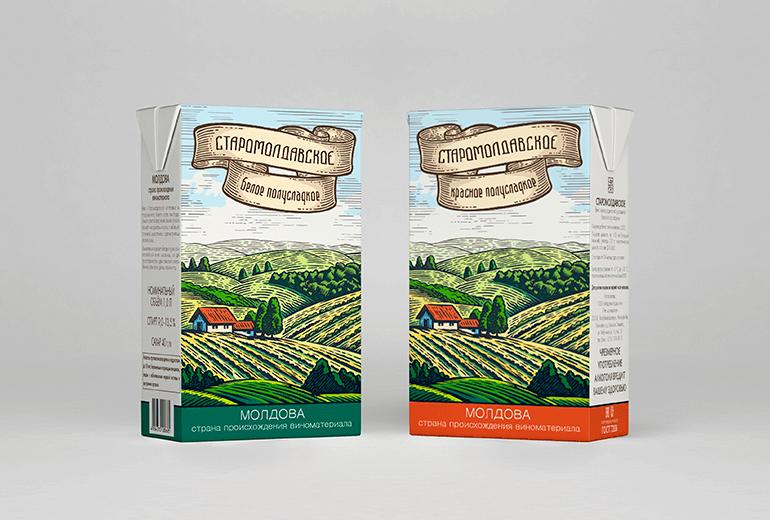 Дизайн упаковки вина для 5 континентов