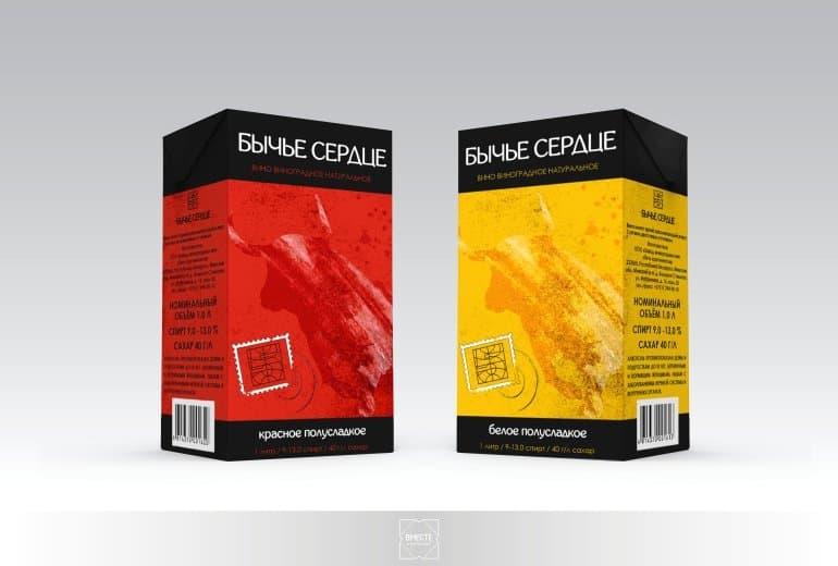Дизайн упаковки для вина от ГК Вместе