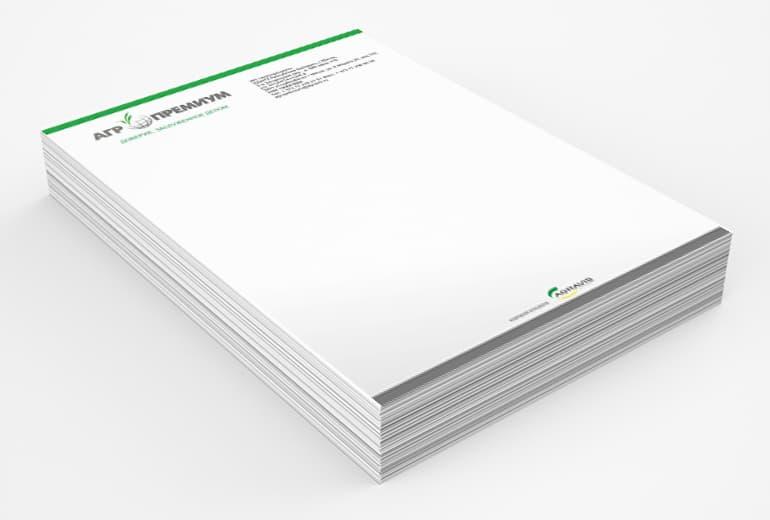 Дизайн фирменных бланков