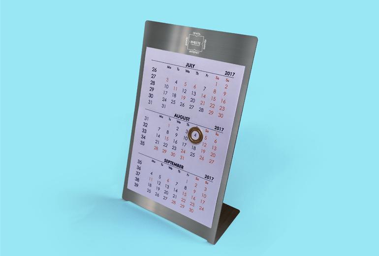 Разработка дизайна металлического календаря